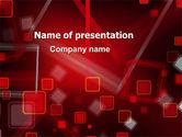 Abstract/Textures: Modèle PowerPoint de résumé des carrés rouges #06495