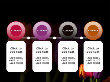 Colorful Tulips PowerPoint Template Slide 5