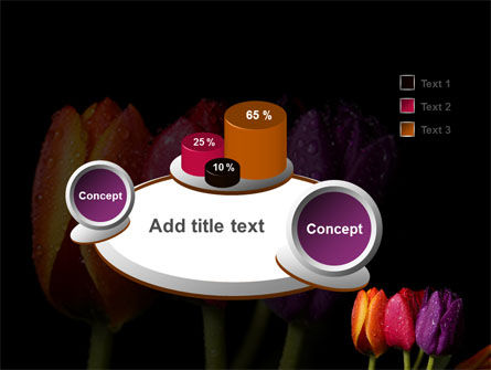 Colorful Tulips PowerPoint Template Slide 6