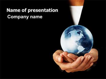 World Business Style PowerPoint Template