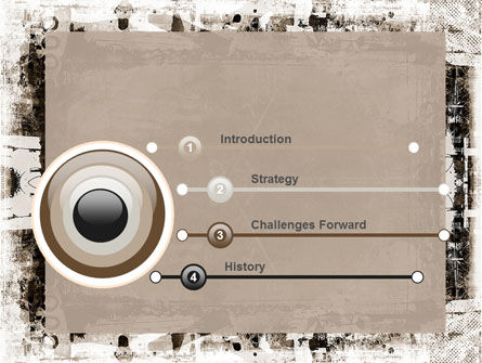 Grunge Abstract PowerPoint Template Slide 3