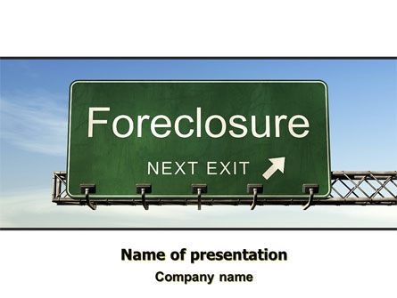 Foreclosure PowerPoint Template, 06502, Financial/Accounting — PoweredTemplate.com
