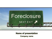 Financial/Accounting: Foreclosure PowerPoint Template #06502