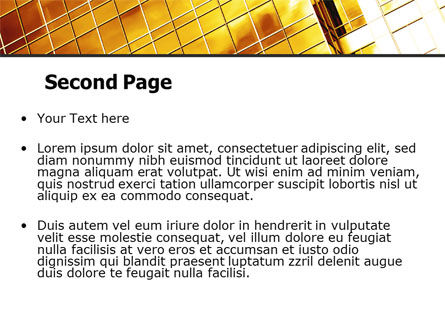 Yellow Skyscraper PowerPoint Template Slide 2