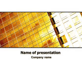 Business: Yellow Skyscraper PowerPoint Template #06503
