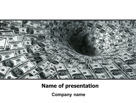 Money Black Hole PowerPoint Template, 06504, Financial/Accounting — PoweredTemplate.com