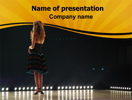 Art & Entertainment: Talent Show PowerPoint Template #06505