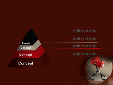 Ribbon And Scissors PowerPoint Template Slide 12