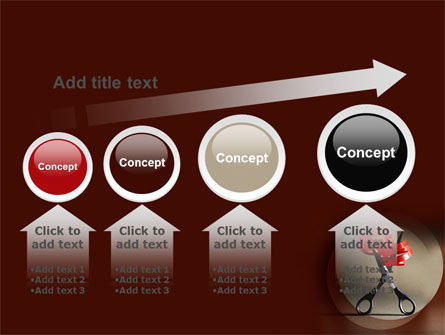 Ribbon And Scissors PowerPoint Template Slide 13