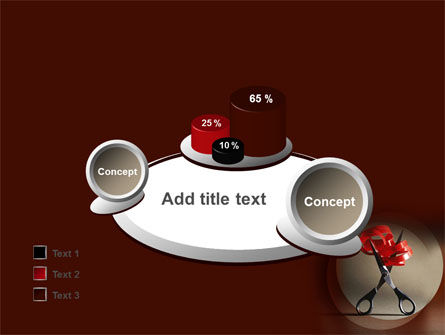 Ribbon And Scissors PowerPoint Template Slide 16