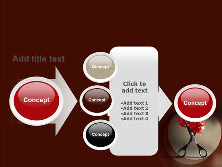 Ribbon And Scissors PowerPoint Template Slide 17