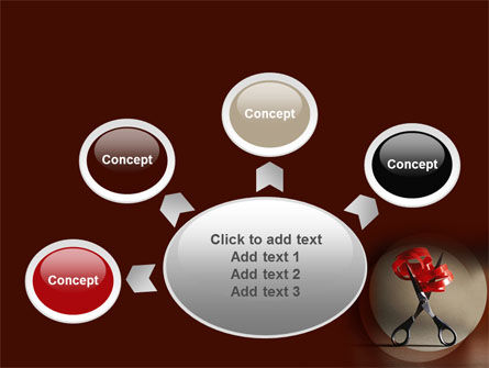 Ribbon And Scissors PowerPoint Template Slide 7