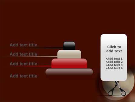 Ribbon And Scissors PowerPoint Template Slide 8