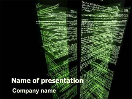 Technology and Science: Programming Code PowerPoint Template #06508