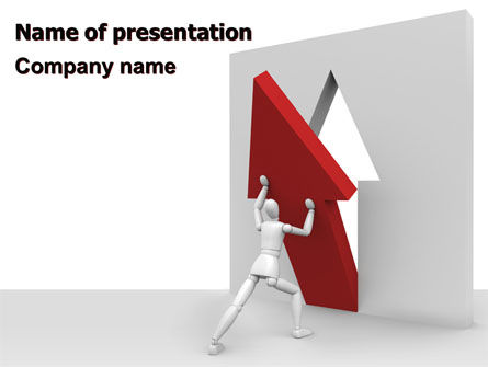 Rising Arrow PowerPoint Template, 06512, Consulting — PoweredTemplate.com