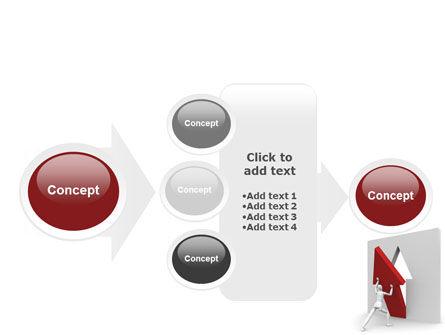 Rising Arrow PowerPoint Template Slide 17