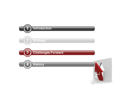 Rising Arrow PowerPoint Template, Slide 3, 06512, Consulting — PoweredTemplate.com