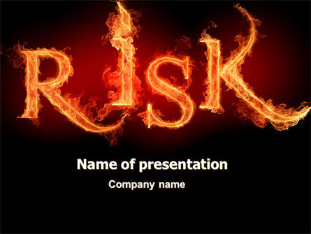 Word Risk In Fire PowerPoint Template, 06516, Consulting — PoweredTemplate.com
