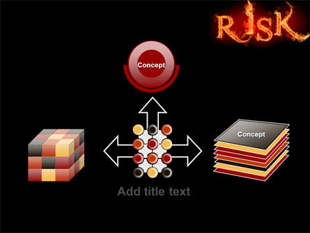 Word Risk In Fire PowerPoint Template Slide 19