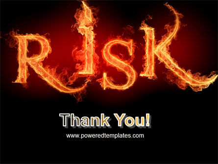 Word Risk In Fire PowerPoint Template Slide 20