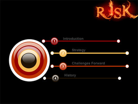 Word Risk In Fire PowerPoint Template, Slide 3, 06516, Consulting — PoweredTemplate.com