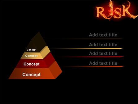 Word Risk In Fire PowerPoint Template, Slide 4, 06516, Consulting — PoweredTemplate.com