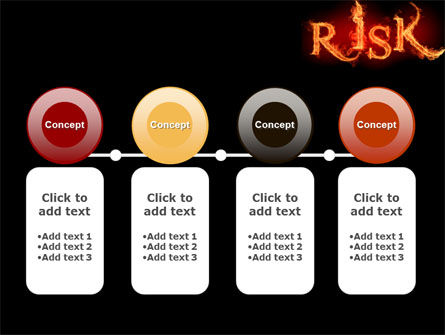 Word Risk In Fire PowerPoint Template Slide 5