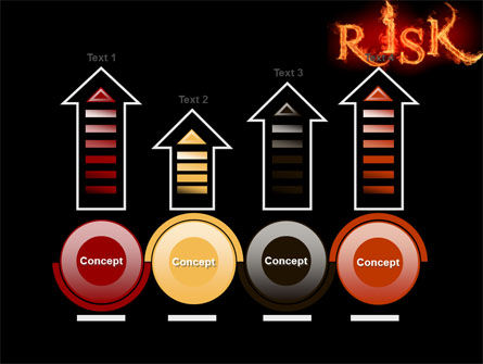 Word Risk In Fire PowerPoint Template Slide 7