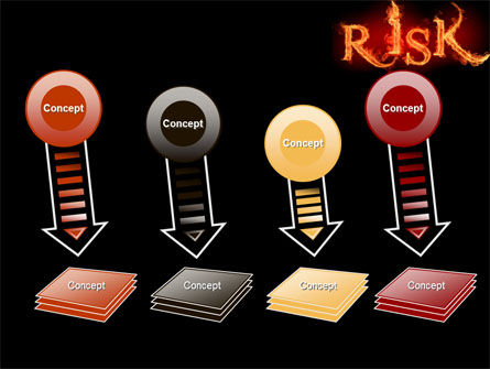 Word Risk In Fire PowerPoint Template Slide 8