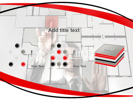 Architect on Work PowerPoint Template Slide 9