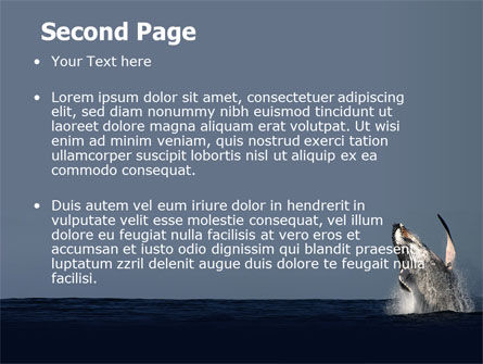 Humpback Whale PowerPoint Template, Slide 2, 06523, Animals and Pets — PoweredTemplate.com
