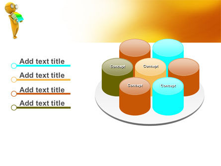 Man With A Stack Of Book PowerPoint Template Slide 12
