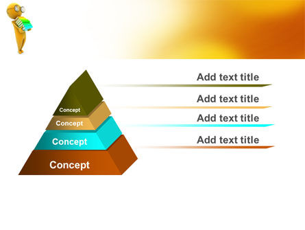Man With A Stack Of Book PowerPoint Template Slide 4