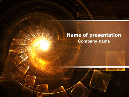 Abstract Whirlpool PowerPoint Template, 06525, Abstract/Textures — PoweredTemplate.com