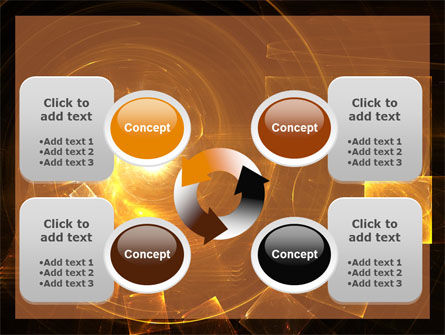 Abstract Whirlpool PowerPoint Template Slide 9