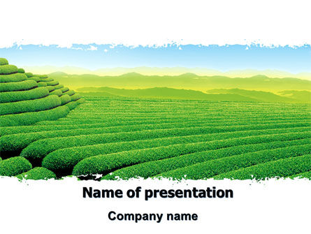 Tea plantation powerpoint template backgrounds 06526 tea plantation powerpoint template 06526 agriculture poweredtemplate toneelgroepblik