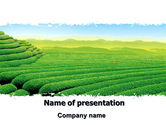 Agriculture: Tea Plantation PowerPoint Template #06526