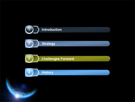 Blue Sunset in Space PowerPoint Template Slide 3