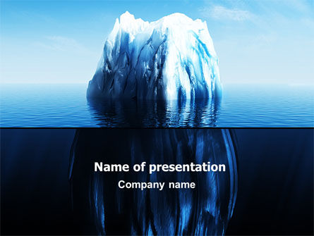 Nature & Environment: Ice Berg PowerPoint Template #06528