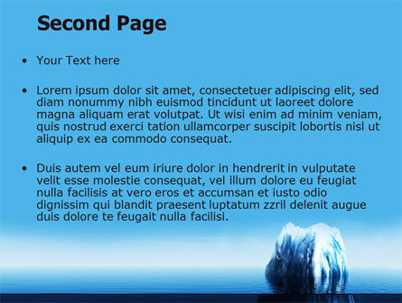 Ice Berg PowerPoint Template, Slide 2, 06528, Nature & Environment — PoweredTemplate.com
