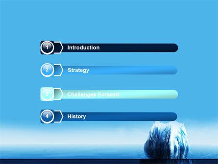 Ice Berg PowerPoint Template, Slide 3, 06528, Nature & Environment — PoweredTemplate.com
