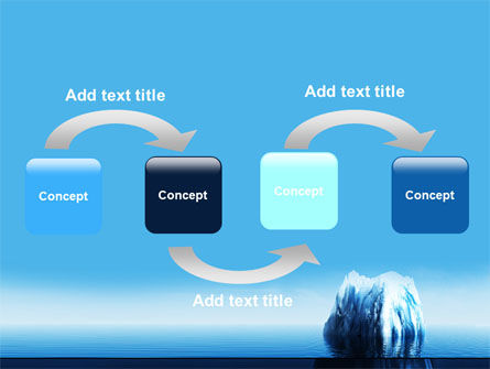 Ice Berg PowerPoint Template, Slide 4, 06528, Nature & Environment — PoweredTemplate.com