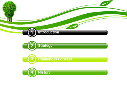 Green Eco Lamp PowerPoint Template, Slide 3, 06530, Technology and Science — PoweredTemplate.com
