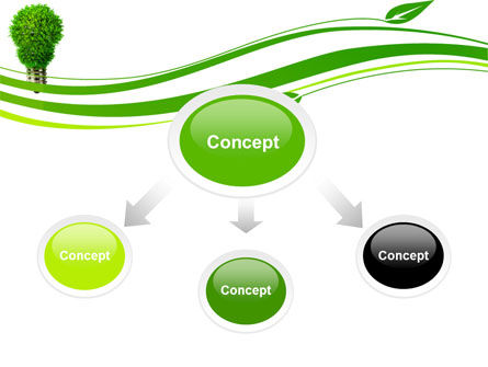 Green Eco Lamp PowerPoint Template, Slide 4, 06530, Technology and Science — PoweredTemplate.com
