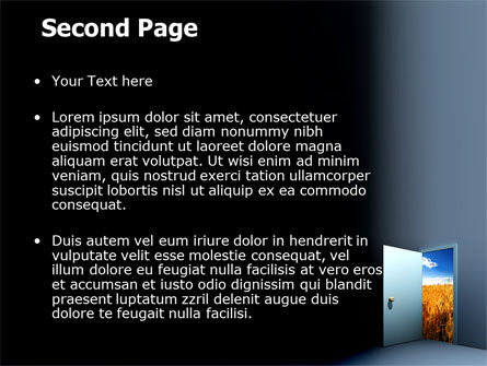 Open Door To The World PowerPoint Template Slide 2
