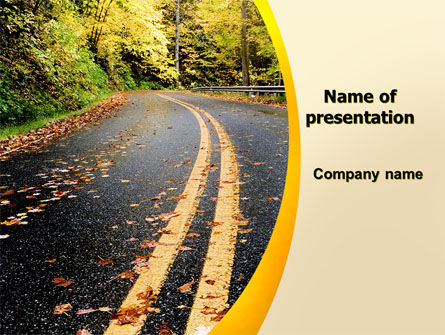 Autumn Road PowerPoint Template