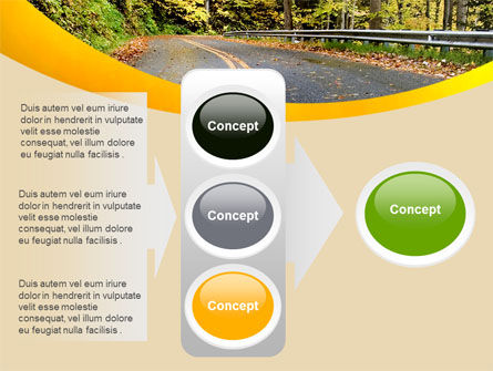 Autumn Road PowerPoint Template Slide 11