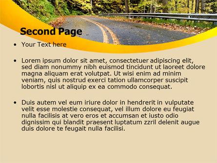 Autumn Road PowerPoint Template, Slide 2, 06536, Construction — PoweredTemplate.com