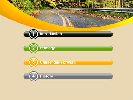 Autumn Road PowerPoint Template Slide 3