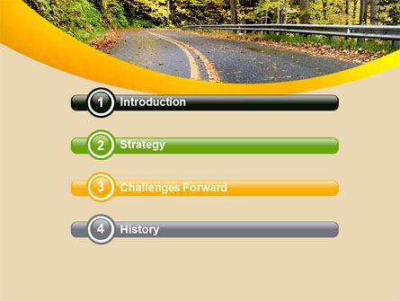 Autumn Road PowerPoint Template, Slide 3, 06536, Construction — PoweredTemplate.com